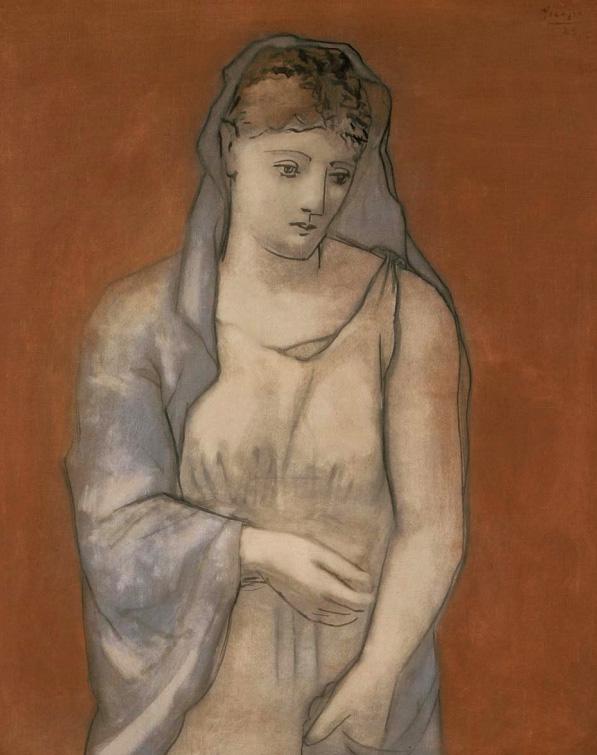 Картина Пабло Пикассо. Женщина в синей вуали. 1923