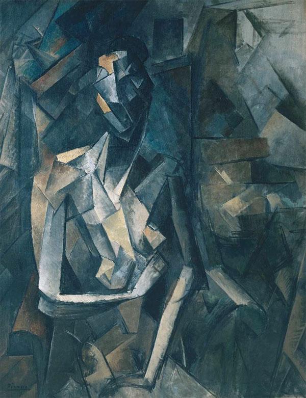 Картина Пабло Пикассо. Сидящая обнаженная. 1910