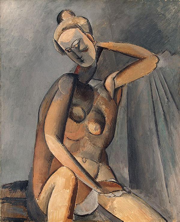 Картина Пабло Пикассо. Обнаженная. 1909