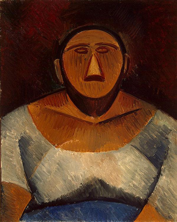 Картина Пабло Пикассо. Фермерша (бюст). 1908
