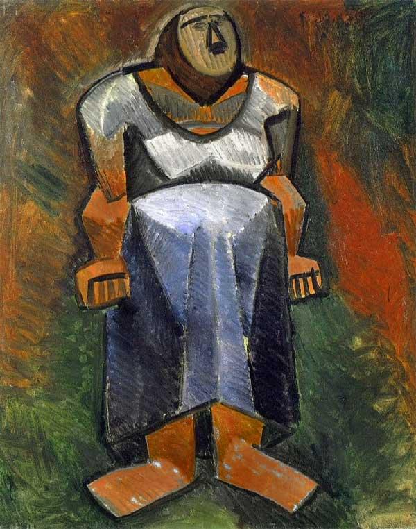 Картина Пабло Пикассо. Фермерша. 1908