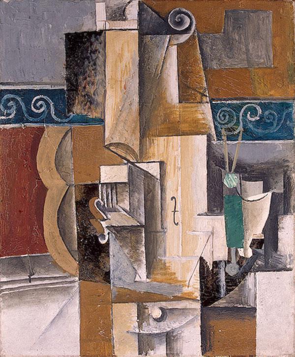 Картина Пабло Пикассо. Гитара и скрипка. 1912