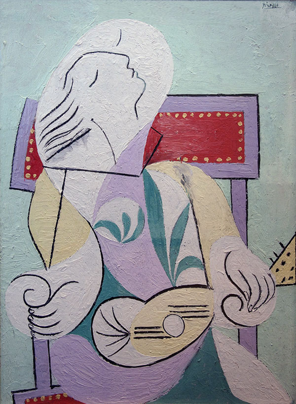 Картина Пабло Пикассо. Девушка с мандолиной. 1932