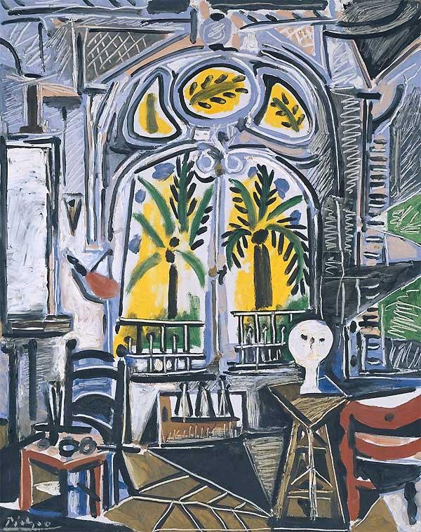 Картина Пикассо Студия (Вилла Калифорния), 1955
