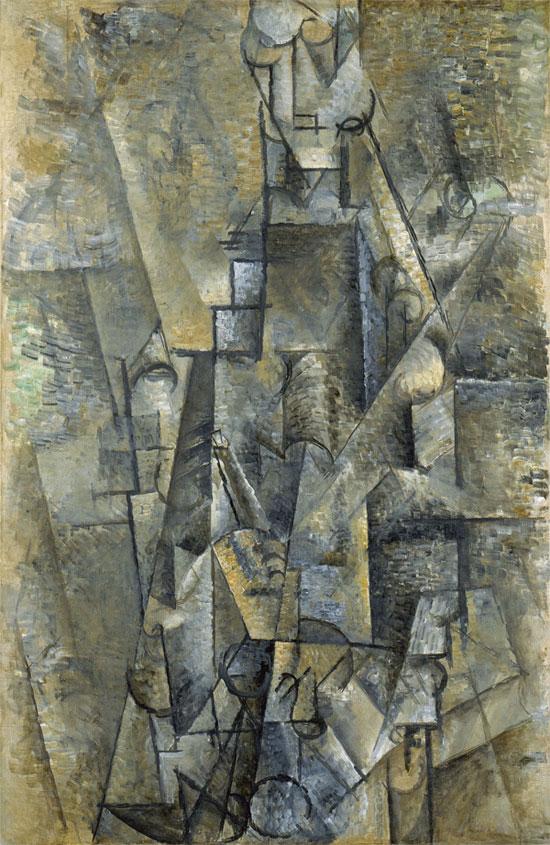 Картина Пабло Пикассо. Человек с кларнетом. 1911