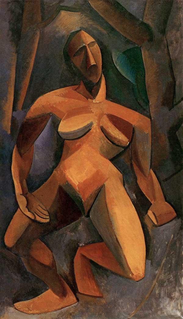 Картина Пабло Пикассо. Дриада (Обнаженная в лесу). 1908