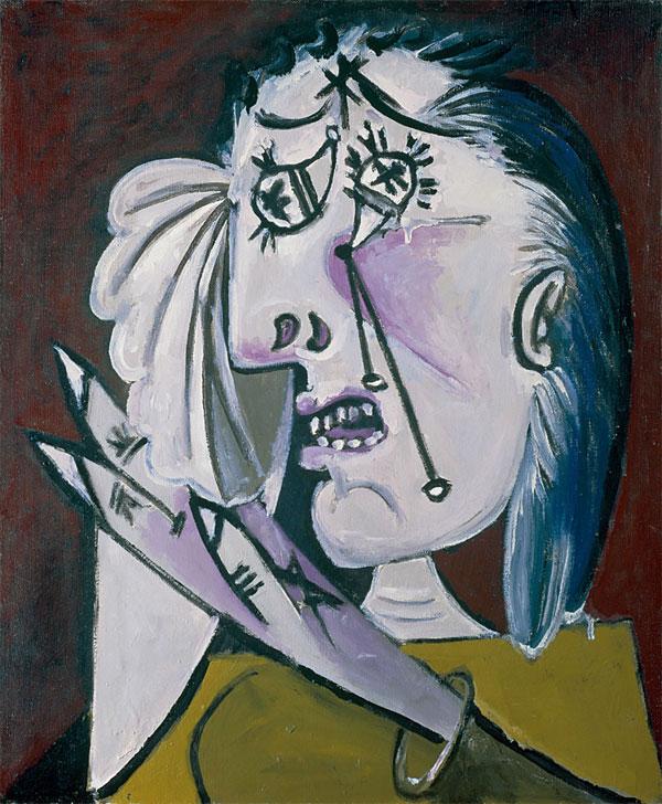 Картина Пабло Пикассо. Плачущая женщина 2. 1937