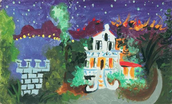 Картина Пабло Пикассо. Вилла Шен Рок в Жуан ле Пен 2. 1931