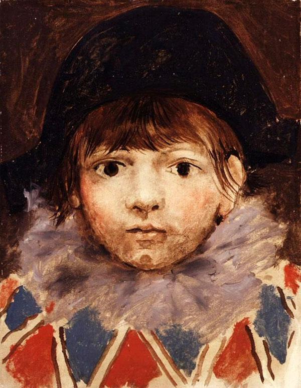 Картина Пабло Пикассо. Сын художника в костюме Арлекина (Портрет Пауло). 1924 ($2,0 млн)