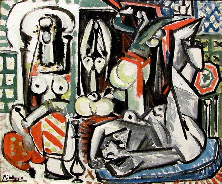 Картина Пабло Пикассо. Алжирские женщины, версия D (4). 1 января 1955