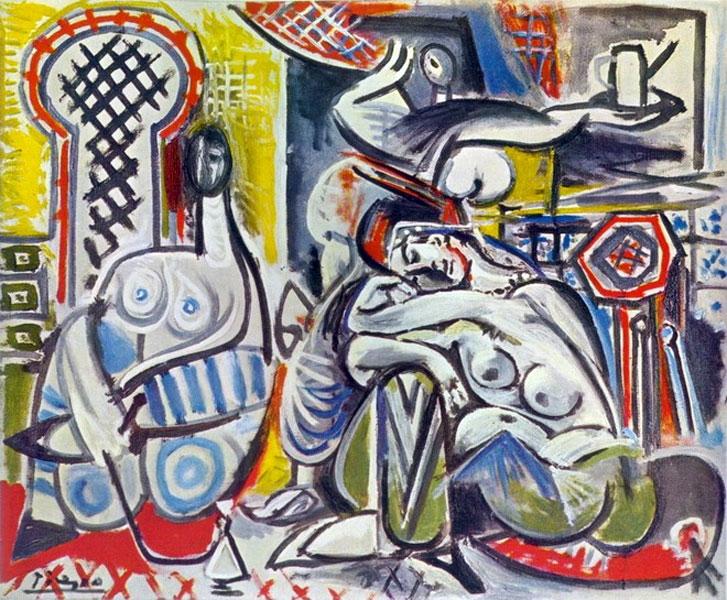 Картина Пабло Пикассо. Алжирские женщины, версия A (1). 13 декабря 1954