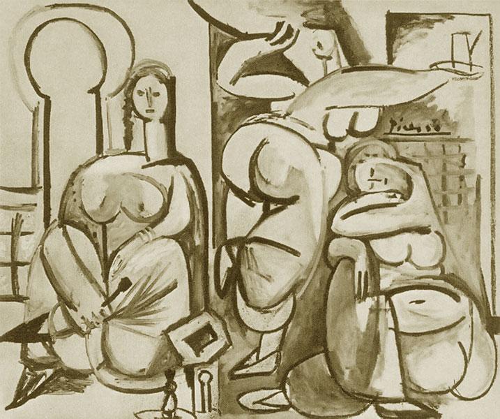 Картина Пабло Пикассо. Алжирские женщины, версия B (2). 13 декабря 1954