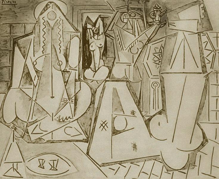 Картина Пабло Пикассо. Алжирские женщины, версия K (11). 6 февраля 1955 ($7,3 млн)