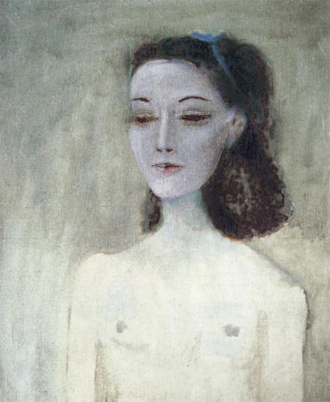 Картина Пабло Пикассо. Мадам Поль Элюар (Нюш). 1941