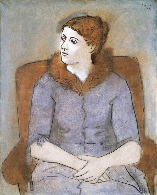Картина Пабло Пикассо. Мадам Пикассо. 1923