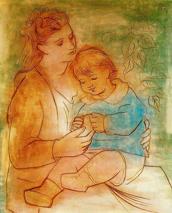 Картина Пабло Пикассо. Мать и дитя 1. 1922
