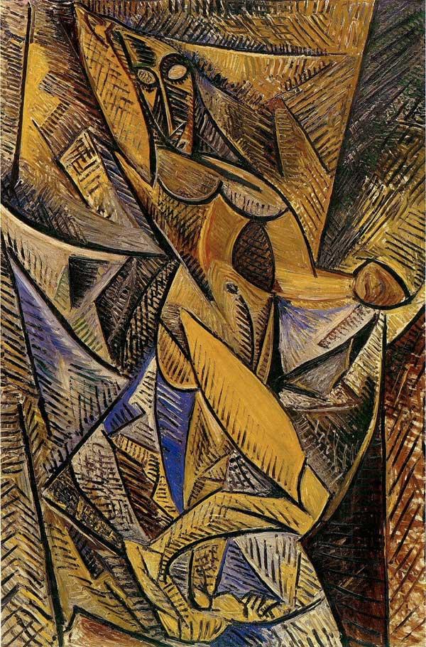 Картина Пабло Пикассо. Обнаженная с драпировкой (Танец с покрывалами). 1907