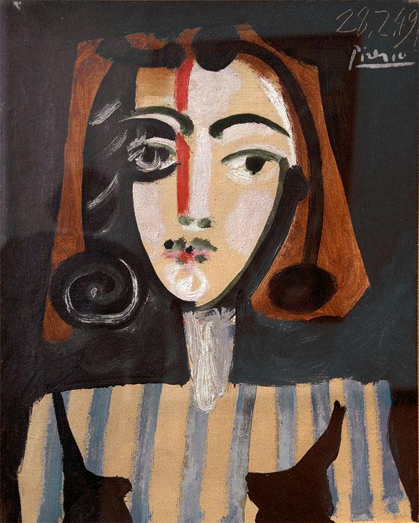 Картина Пабло Пикассо. Портрет Франсуазы (Бюст женщины). 1949