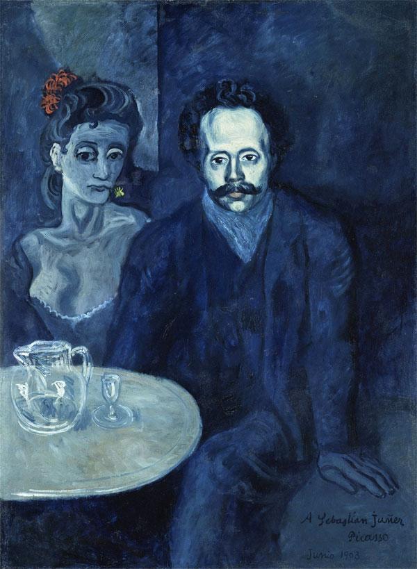Картина Пабло Пикассо. Портрет Себастьяна Видала. 1903