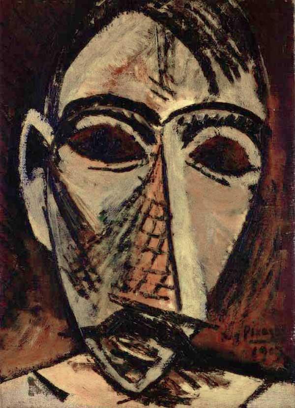 Картина Пабло Пикассо. Голова мужчины. 1907