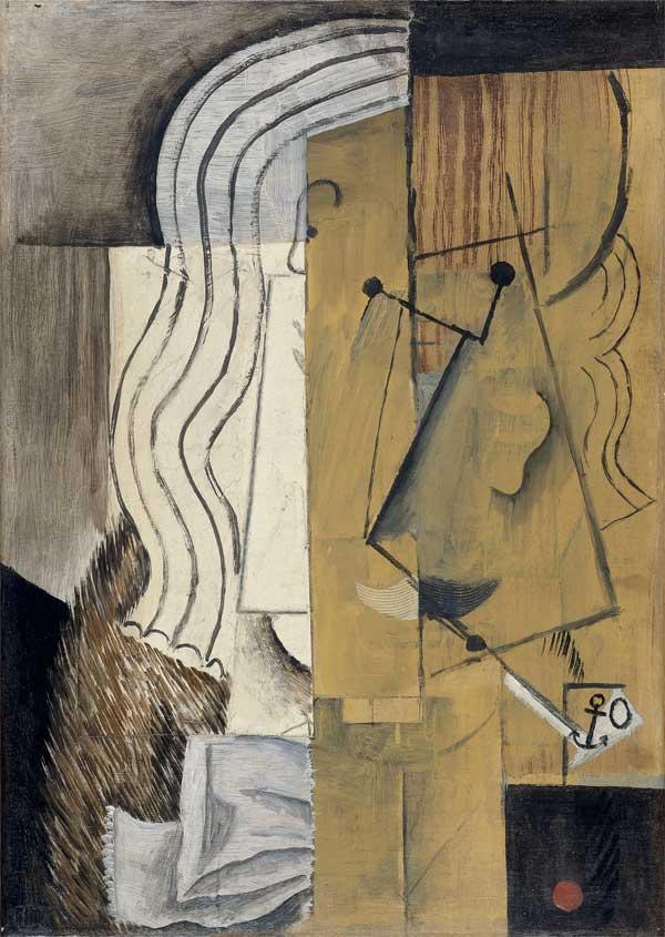 Картина Пабло Пикассо. Голова мужчины. 1913