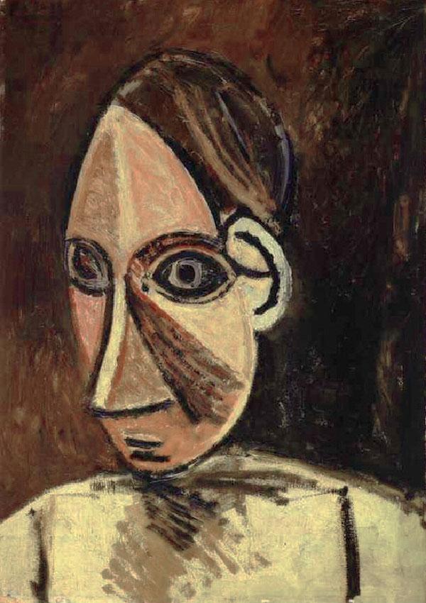 Картина Пабло Пикассо. Голова женщины. 1907