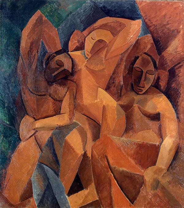 Картина Пабло Пикассо. Три женщины. 1908