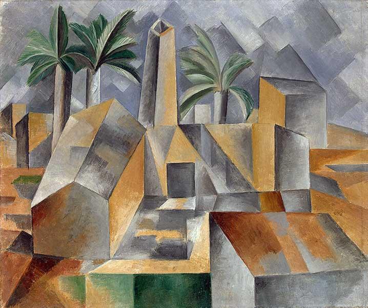 Картина Пабло Пикассо. Кирпичный завод в Тортосе (Фабрика в Хорта де Эбро). 1909