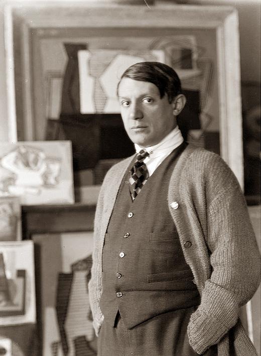 Пикассо, Париж, улица ля Боэти, 1922. Фото — Ман Рэй