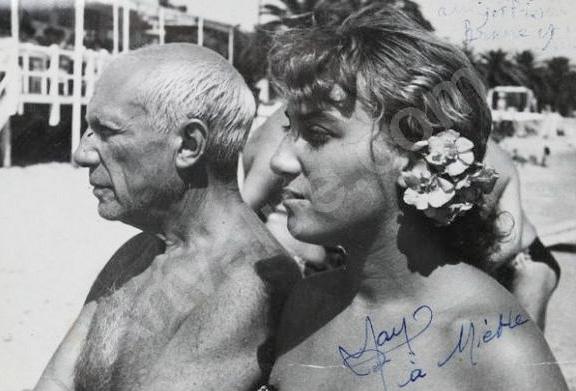Пикассо и его 18-летняя дочь Майя. Фото, 1953