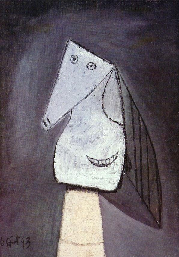 Картина Пабло Пикассо. Голова улыбающейся женщины. 1943