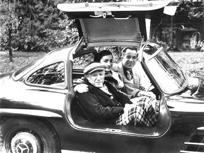 Пабло Пикассо и Жаклин Рок с Дэвидом Дугласом Дунканом в его ...