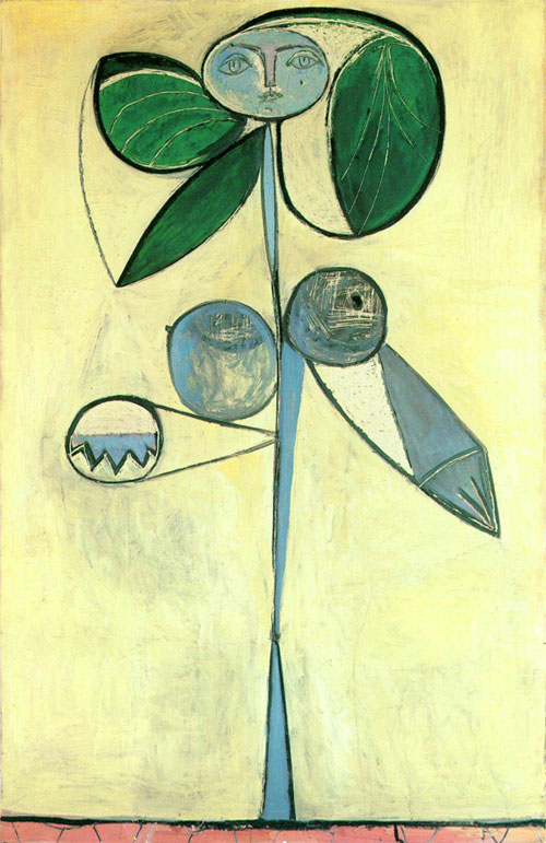 Картина Пабло Пикассо. Женщина-цветок (Франсуаза Жило). 1946