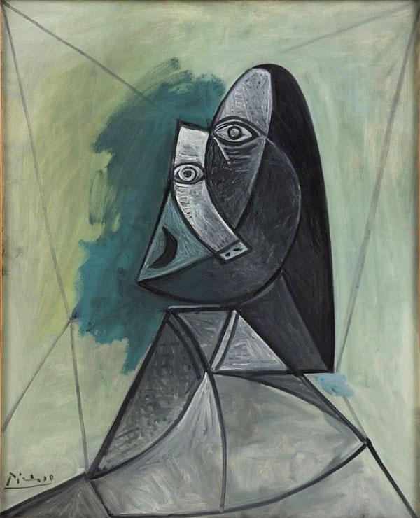 Картина Пабло Пикассо. Бюст женщины. 1943