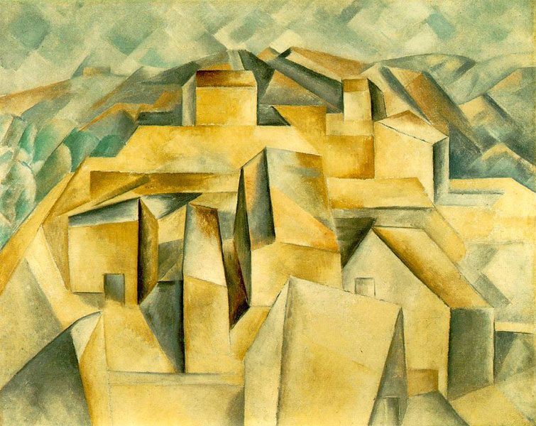 Картина Пабло Пикассо. Дома на холме (Хорта де Эбро). 1909