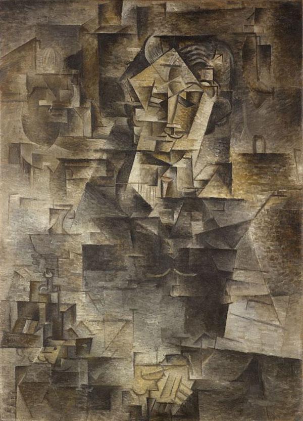 Картина Пабло Пикассо. Портрет Даниэля-Анри Канвайлера. 1910