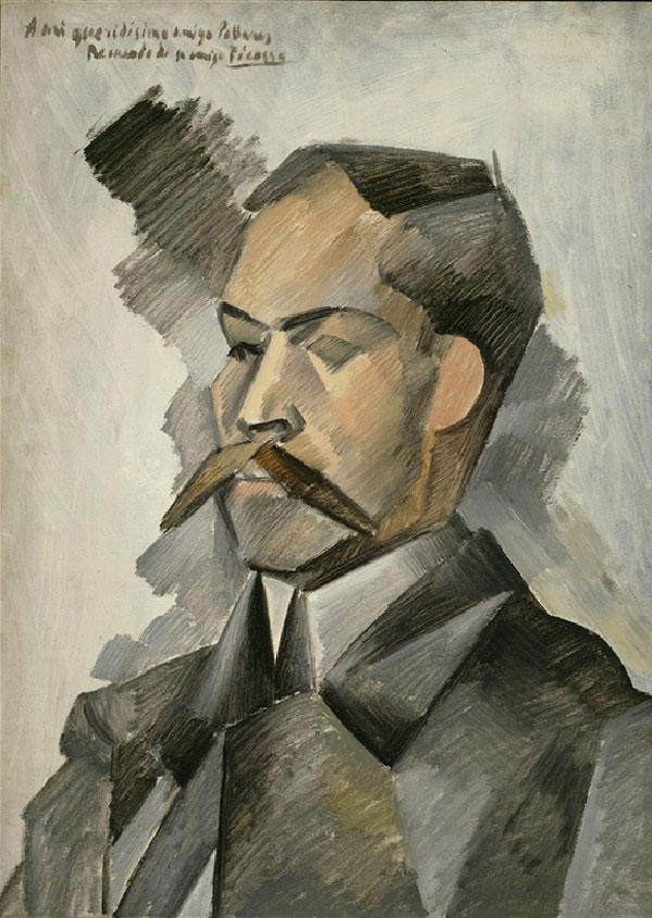 Картина Пабло Пикассо. Портрет Мануэля Пальяреса. 1909