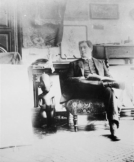 Гийом Аполлинер в мастерской Пикассо на бульваре Клиши, фото 1910