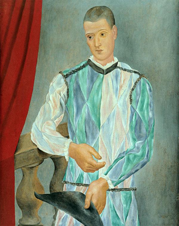 Картина Пабло Пикассо. Арлекин. 1917