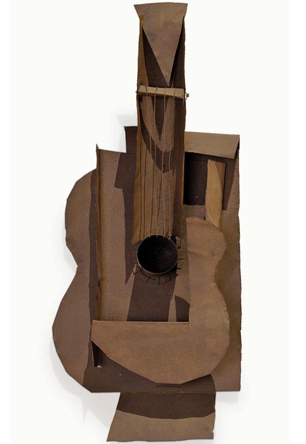 Картина Пабло Пикассо. Гитара (металл). 1914