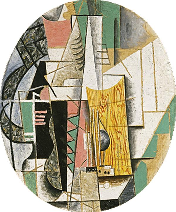 Картина Пикассо. Гитара. 1913