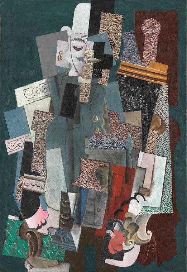 Картина Пабло Пикассо. Человек с трубкой. 1915