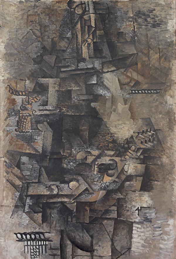 Картина Пабло Пикассо. Мандолинист. 1911
