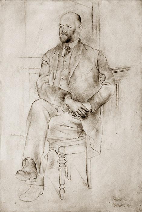 Картина Пабло Пикассо. Портрет Амбруаза Воллара. 1915