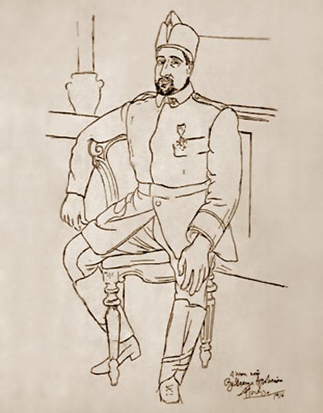 Картина Пабло Пикассо. Портрет Гийома Аполлинера. 1916