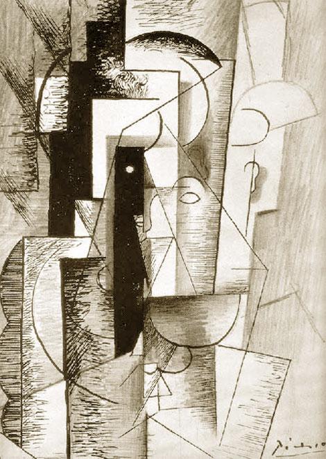 Картина Пабло Пикассо. Портрет Гийома Аполлинера для «Алкоголей». 1913