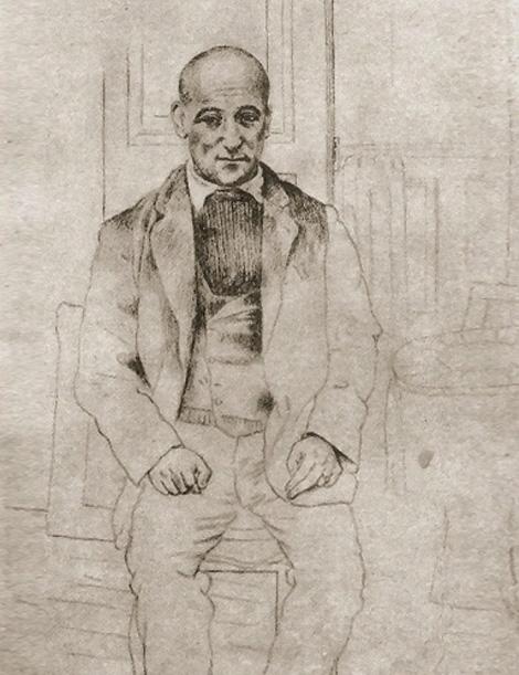Картина Пабло Пикассо. Портрет Макса Жакоба. 1915