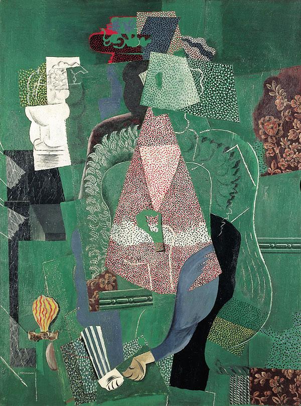 Картина Пабло Пикассо. Портрет юной девушки. 1914