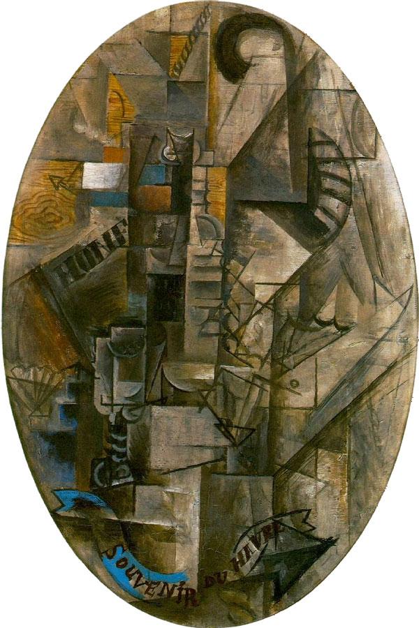 Картина Пабло Пикассо. Воспоминание о Гавре. 1912