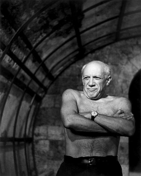 Пабло Пикассо в Валлорисе, 1953. Фото Андре Вилье